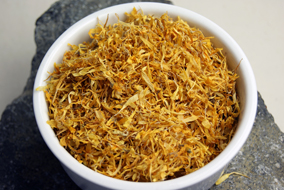 Dried marigold petals