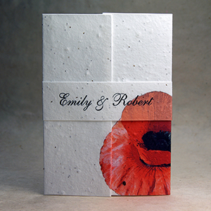 of the earth handmade paper wedding invitations earth friendly